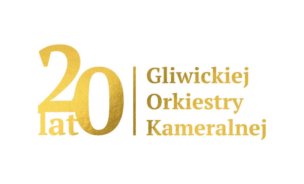 Logo - 20 lat Gliwickiej Orkiestry Kameralnej.